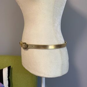 Accessories - 4/$25 Thin Gold Faux Leather Adjustable Belt